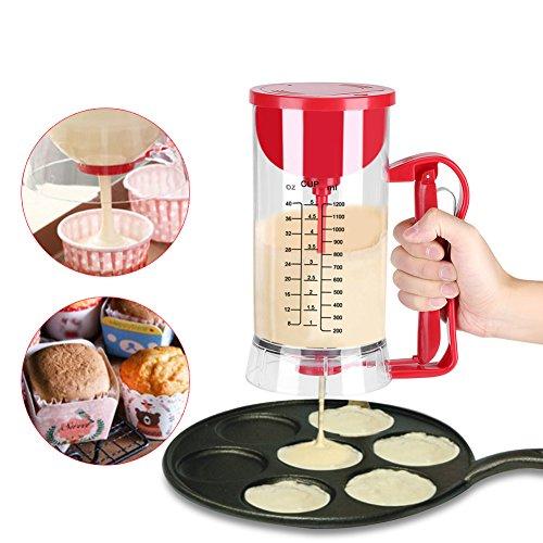 Pancake Cupcake Batter Dispenser, Batter Mixer Dispenser Maker Machine 1200ML Cake Batter Dispenser and Mixing System