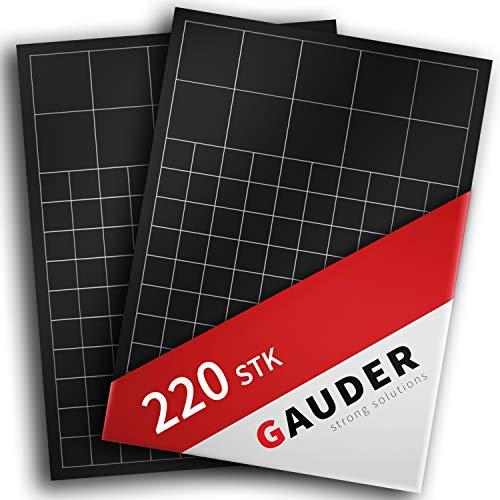 GAUDER Placas Magnéticas Autoadhesivas | Láminas Imantadas Adhesivas A4 | Peganitas de...