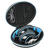 Duro Viajar Caso Cubrir para Mpow 059 Cascos Bluetooth Inalambricos por co2CREA (Azul)
