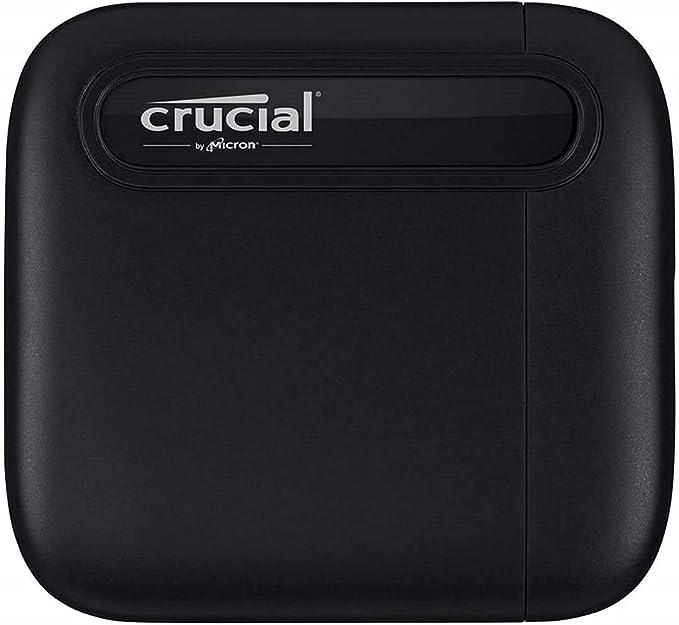4103 opinioni per Crucial CT500X6SSD9 X6 500GB Portable SSD, Fino a 540MB/s, USB 3.2, Unità a
