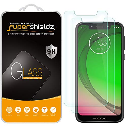 (2 Pack) Supershieldz Designed for Motorola (Moto G7 Play) Tempered Glass Screen Protector, 0.33mm, Anti Scratch, Bubble Free