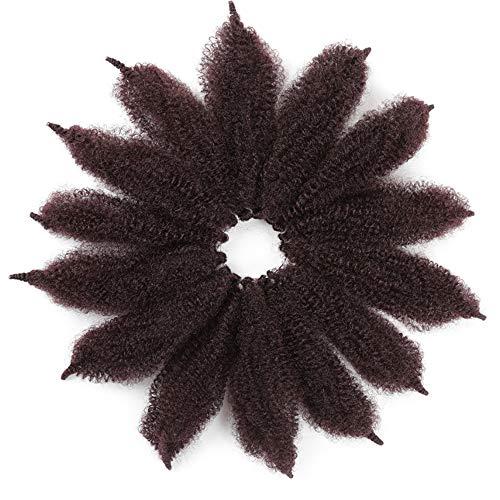 Morningsilkwig 3 Packungen häkeln Marley Zöpfe Kanekalon synthetische Haare weiche Afro Twist synthetische Flechten Haarverlängerungen Hochtemperatur-Faser für Frau 8inch (Marley Braids 1B99J)