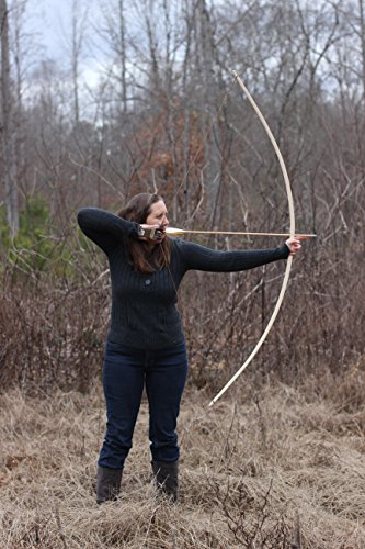 KP Archery 72' Handcrafted Traditional English Longbow Made of Hickory 45lbs @ 28'