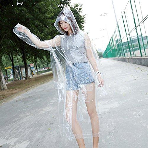 Brilliant firm Imperméable Transparent Femelle Vert EVA Veste imperméable Adulte pour Augmenter Le Chapeau en Plein air randonnée Poncho (Size : XL)