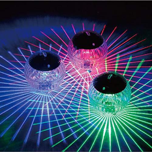 JiaMeng Solarleuchte Poolbeleuchtung, LED Licht wasserdicht Unterwasserlampe Solarbetriebene Teich Licht Swimmingpool Farbwechsel LED-Lampe für Pool, Teich, Wasserfall, Aquarium