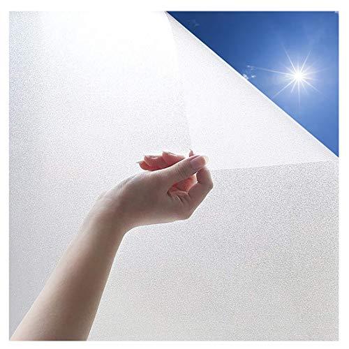 Aoweika Fensterfolie, klebend Mattierter Heimbüro-Film Privatsphäre Fensteraufkleber Self Static Glass Film für Badezimmer Büro Besprechungszimmer Wohnzimmer(Weiß gefrostet,90 * 200)