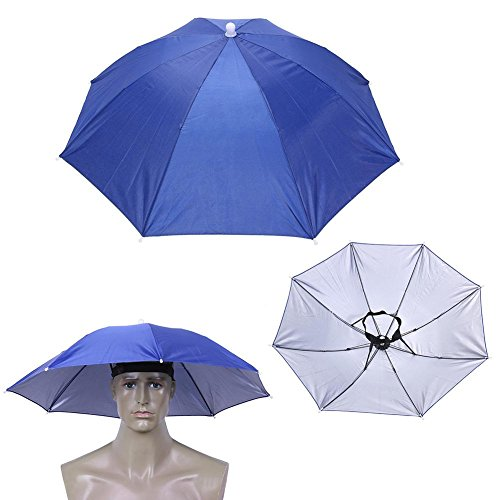 Demiawaking Cappello Ombrello Anti-Pioggia Ombrello Portatile con Fascia Elastica Strumento di Protezione...