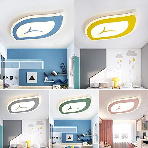 5151BuyWorld Lamp Signe Macarons Nouvelle Couleur Plafonniers Acrylique LED Pour Plafonnier Salle D'Étude Chambre Salon Qualité Supérieure {Dimmable & Bleu L65Xw40CM}