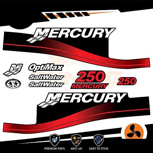 Generico Mercury - Kit de adhesivos para motor marino fuera del borde, 250 CV – Versión Saltwater B