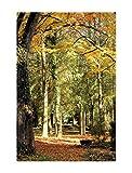 deinebilder24 - Kunstdruck mit Rahmen - 110 x 70 cm - Bauer