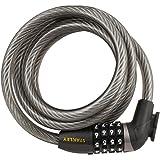 Stanley Combi Candado de combinación con Cable para Bicicletas, Unisex, Negro-Negro, 12 x 1800 mm