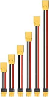 KINGDUO 10WAG 10/15/20/30/40 / 50cm XT90 Fiche mâle à XT60 Fiche Prise Chargeur de câble-10cm