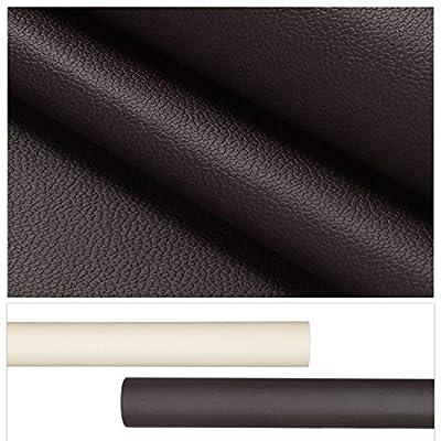 Material de la película: cuero PU + paño elástico, suave y duradero, resistente al agua, fácil de limpiar y fácil de mantener. El tamaño de la película decorativa: 0,45 x 2 M (1 rollo de ancho x largo), se puede cortar fácilmente con un cuchillo pesa...