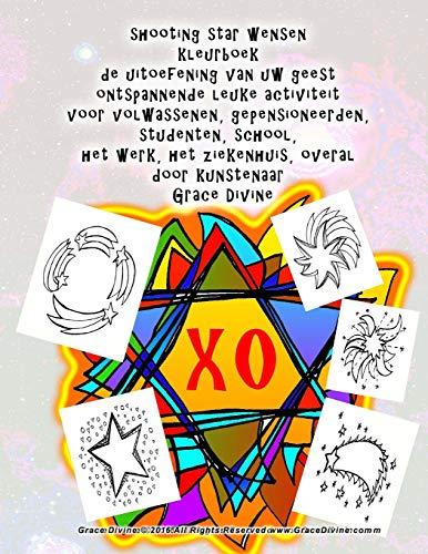 shooting star wensen kleurboek de uitoefening van uw geest ontspannende leuke activiteit voor volwassenen, gepensioneerden, studenten, school, het ... overal door kunstenaar Grace Divine