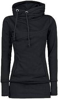 comprar comparacion OverDose mujer De La Manera Floja Pullover Camiseta Blusa De Manga Larga Sudadera con Capucha Superior Tops Clearance