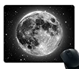 Smooffly Gaming Mouse Pad Custom,Full Moon with Stars in The Background Non-Slip Thick Rubber Large Mousepad