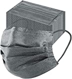 MSAAEX Grey Disposable Face Mask 4-Ply Protection Masks Prevent Dust, Breathable Non-Woven Mouth Cover - 50 Pack