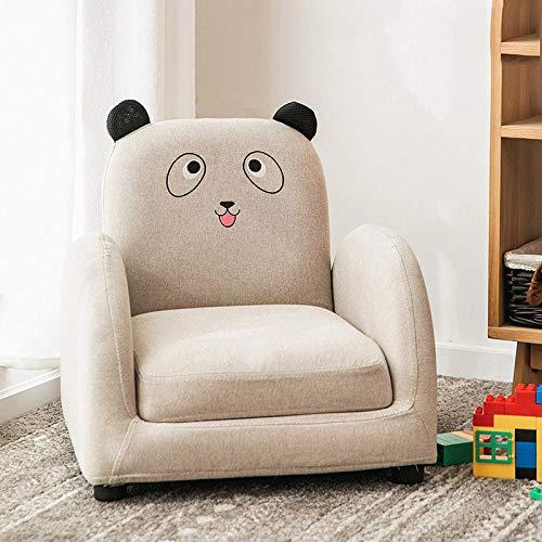 Asiento de sofá para niños Dibujos Animados niño niña Princesa bebé bebé Aprender a Sentarse en el Asiento del sofá Lindo Tatami de Lectura-Tela Blanca Panda sofá reclinable
