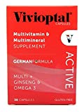 Vivioptal Active Multivitamin/Multimineral German Formula Multi+Ginseng & Omega 3 30 Capsules