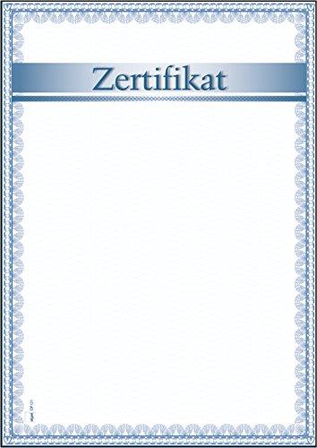 """SIGEL DP121 Blanko Urkunde \""""Zertifikat\"""", DIN A4, 185 g/m², 12 Blatt"""