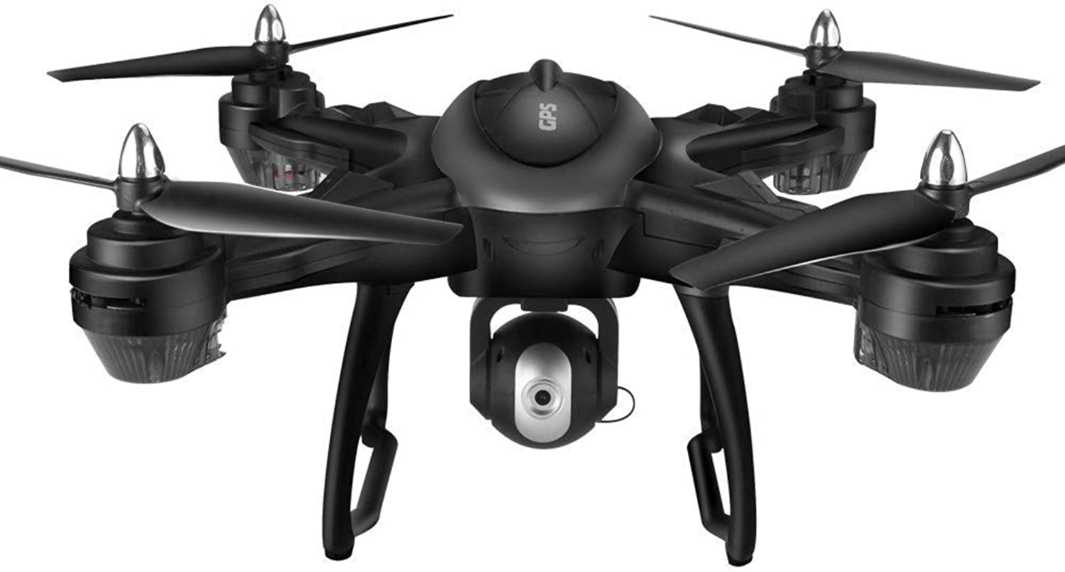 GOUPPER Unuomoned Aerial Vehicle, LH-X38G Dual GPS FPV Drone Quadcopter 1080P HD telecamera WiFi Headless Mode (nero+Backpack)