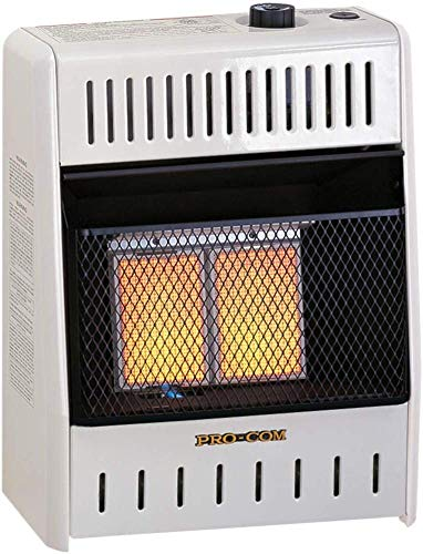 ProCom Natural Ventless Infrared Space Gas Heater-10,000, Model# MN100HPA, 10,000 BTU