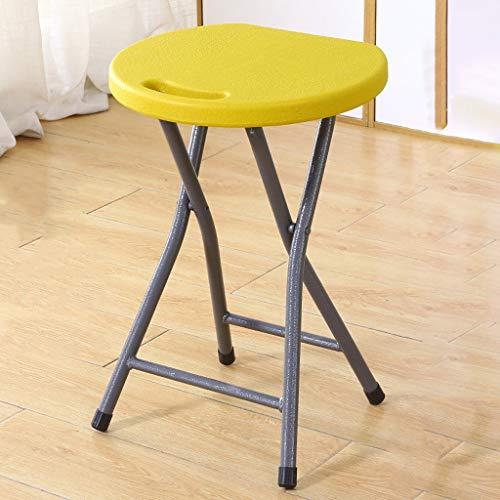 JIAX draagbare stoelen, kruk, huishoudstoelen, eenvoudige eettafels en stoelen, hoge kruk, draagbare plastic stoelen, ruimtebesparend, 18 inch hoog