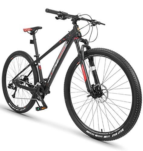 Bicicletta MTB Mountain Bike per Adulti/Uomo/Adolescente 33 velocità off-Road Lega di Alluminio Corpo Ultraleggero Doppio Ammortizzatore Freno A Disco da Corsa A velocità Variabile A 29inch