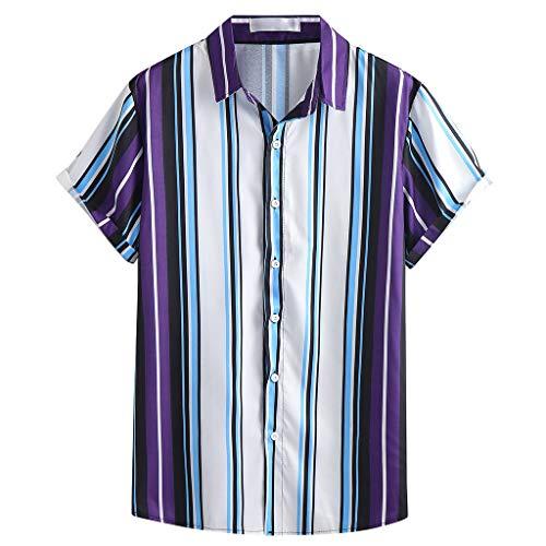 Great Deal! Camisa Para Hombre Camisas Hawaianas Clásicas a Rayas Traje De Playa De Talla Grande