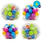 Set de 4 Juguetes Antiestrés Apretables en Colores Variados - Ideal...