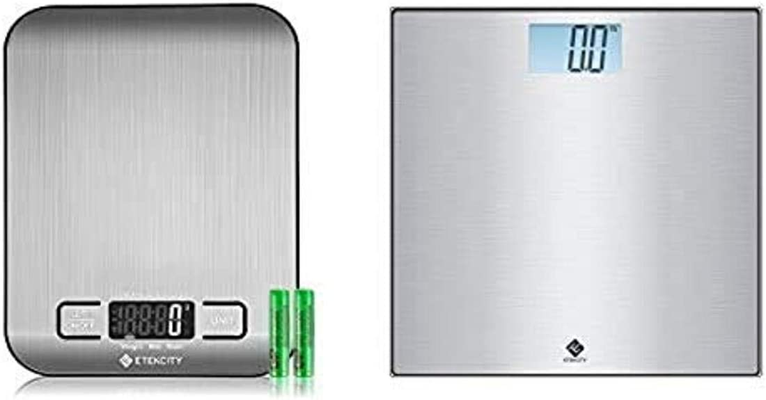 Etekcity Small Food Scale and Stainless Steel Digital Body Weigh