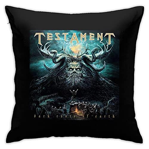 Testament Dark Roots Of Earth - Juego de almohadillas para colocar en el hogar, oficina, coche, cafetería, dormitorio, 45 x 45 cm