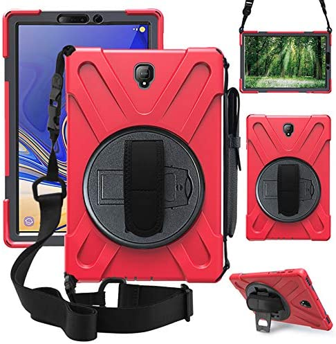 ZenRich Galaxy Tab S4 2018 Case, Tab S4 10.5 Case with S Pen Holder Rotatable Stand Hand strap and Shoulder Belt, zenrich Shockproof Rugged Case for Samsung Tab S4 10.5 inchT830/T835/T837 Tablet Black
