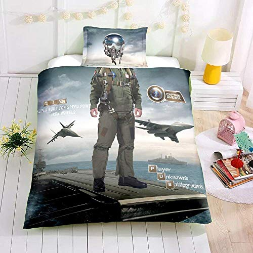 LWtiao-x 3D Firefighter and Other Professional Costume Quilt Cover, Astronaut, Racer, Quilt Cover + Pillowcase (a6,135x200cm+80x80cmx1)