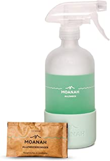 Moanah Allzweckreiniger-Spray nachhaltig | Sprühflasche und 2x 500 ml-Refills | Putzmittel | Universalreiniger | Reinigungsmittel | Fettlöser | Kraftreiniger | Ökoreiniger | aus Deutschland