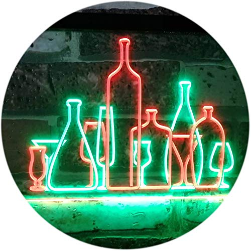 ADV PRO Bar Pub Club Home Decoration Cocktails Display Dual Color LED Enseigne Lumineuse Neon Sign Vert et Rouge 400 x 300mm st6s43-i3187-gr