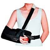 DonJoy 11-0449-3-06000 UltraSling II Shoulder Immobilizer, Black, Medium