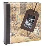 Kusso Travel Series - Álbum de fotos (10 x 15 cm), diseño de etiqueta de equipaje y ventana de...