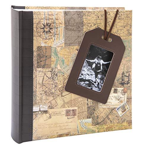 Kusso Travel Series - Álbum de fotos (10 x 15 cm), color marrón y beige