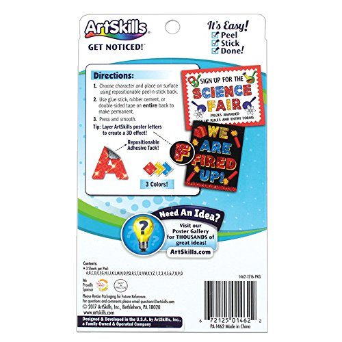 ArtSkills 4 in Holographic Project Letters, Assorted, 108-Count (PA-1462) Photo #6