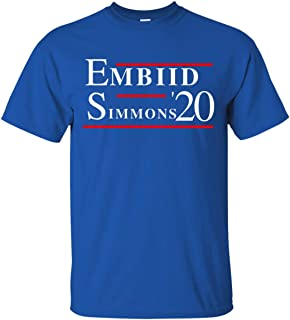 LiberTee Embiid Simmons 76ers 2020 Tshirt, Comfortable Cotton Shirt for 76er Fans, Printed and Shipped from USA