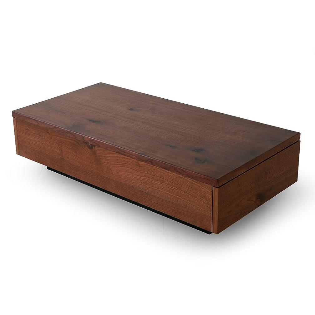 取り替える安西戦術LOWYA (ロウヤ) テーブル センターテーブル 国産 節付き 天然木突板 木製 引き出し 2杯付き 長方形 ウォルナット おしゃれ 新生活