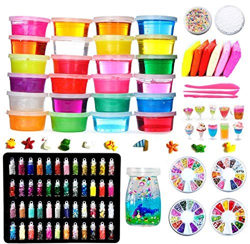Fai da Te Fluffy Slime Kit –24 Colori Slime Kit...