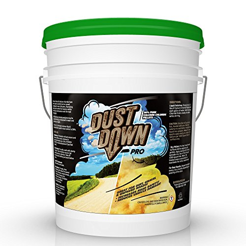 FDC 96% Pure Calcium Chloride DUST Down PRO Pellets (Controls dust on unpaved Dirt & Gravel Roads) 5 Gallon Pail