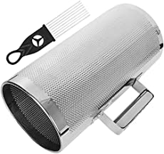 """12"""" x 6"""" Metal Guiro Shaker, Stainless Steel Guiro Instrument with Scraper, Shaker Musical Instruments, 12"""" 6"""" Latin Percussion Instrument Musical Training Tool"""