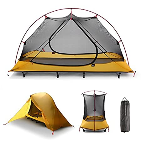 iUcar Portable Camping Tent Cot Off Ground Tent with Carrying Bag.