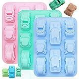 3 moldes de silicona para coche, PUDSIRN, molde de silicona de grado alimenticio, para hornear...