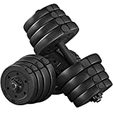 YAHEETECH 66LB Adjustable Exercise & Fitness Dumbbells Set Dumbbell Pair Lifting Dumbbells Weight Set for Home Gym Strength Training w/Non Slip Grip