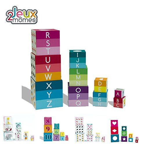 PYRAMIDE CARREE 10 CUBES by jeux