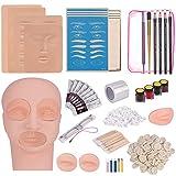 MYSWEETY Kit Profesional de Práctica Tatuaje Ceja Permanente Microblading Set Suministros de Maquillaje Semipermanente para Cejas de...